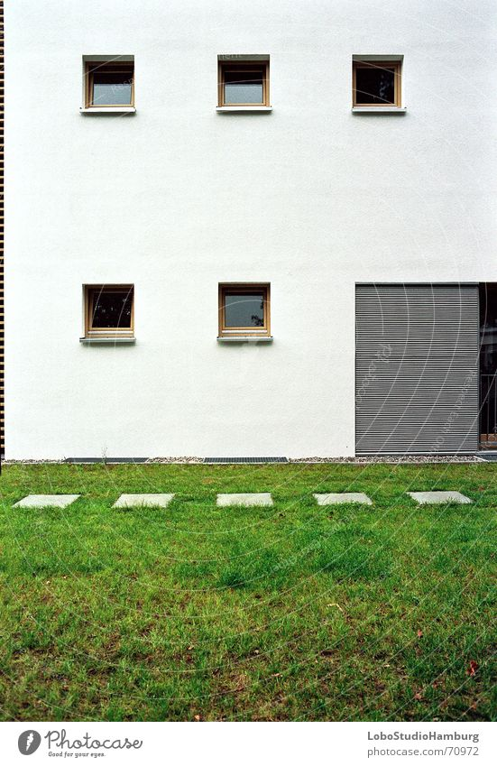 Häuserwand Wand Fenster Gebäude Symmetrie gerade
