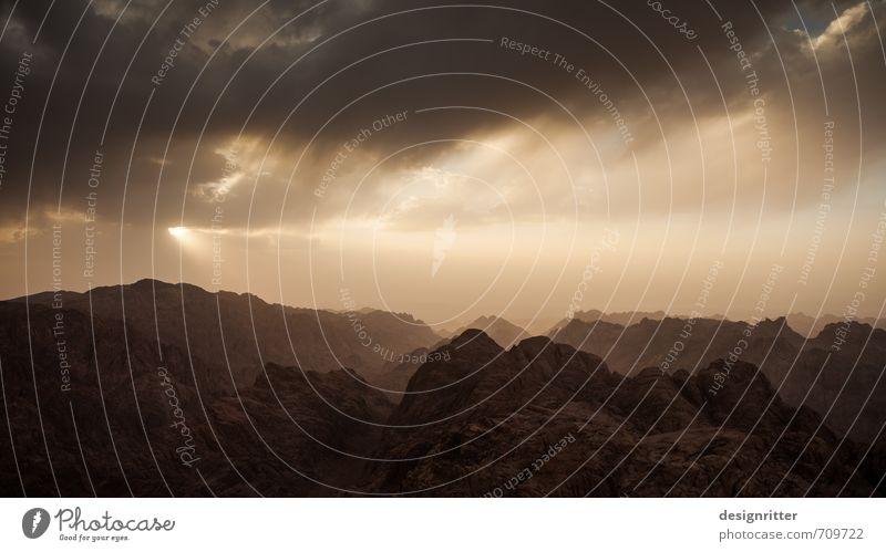 Der Weg nach Mordor Umwelt Natur Landschaft Sand Himmel Wolken Gewitterwolken Sonne Sonnenaufgang Sonnenuntergang Klima Wetter Felsen Berge u. Gebirge Gipfel