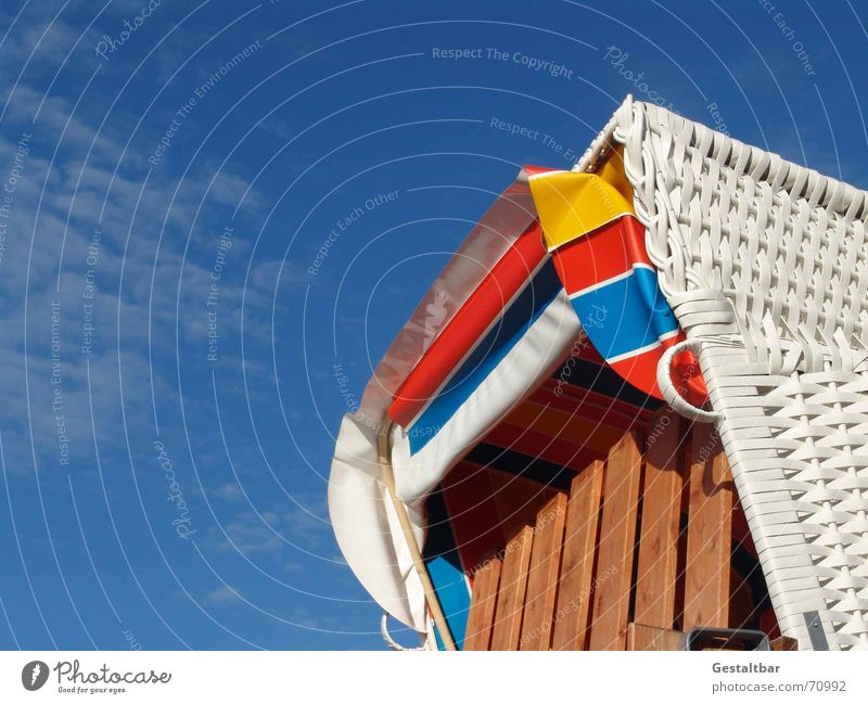 Geschlossen! Strandkorb Rügen Sommer Ferien & Urlaub & Reisen Meer Erholung ruhig Rauschen Markise gestaltbar Küste Ostsee