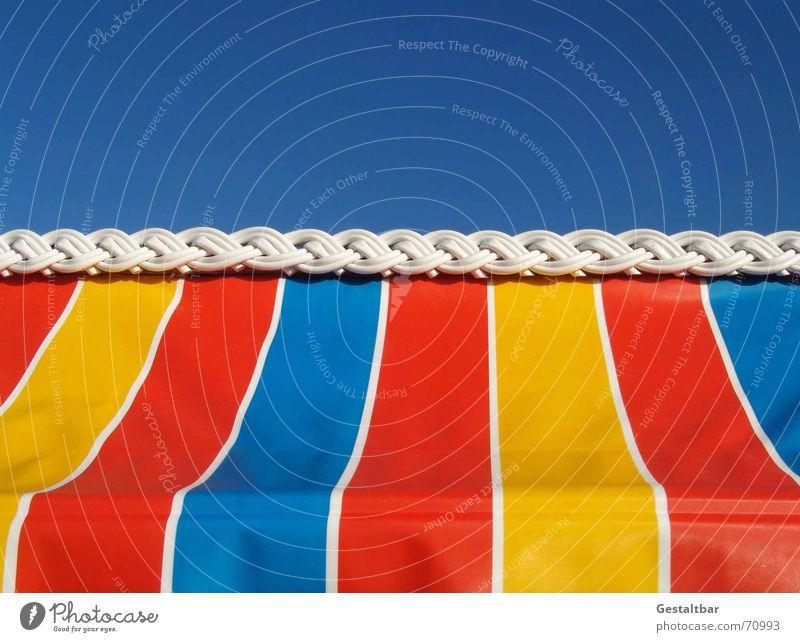 Farbenrausch! Strandkorb Rügen Sommer Ferien & Urlaub & Reisen Meer Erholung ruhig Rauschen Markise gestaltbar Küste Ostsee