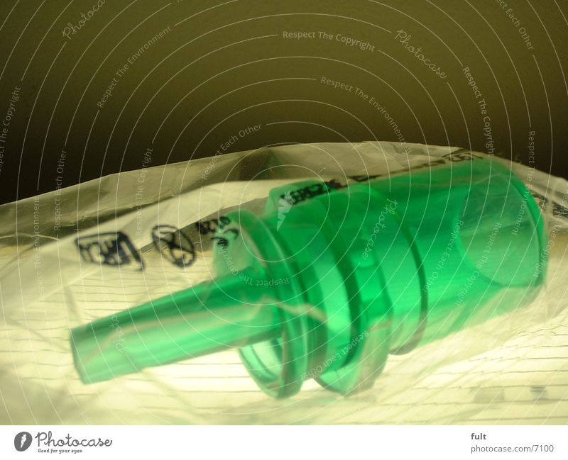 plastikproppen grün Industrie Kunststoff Folie