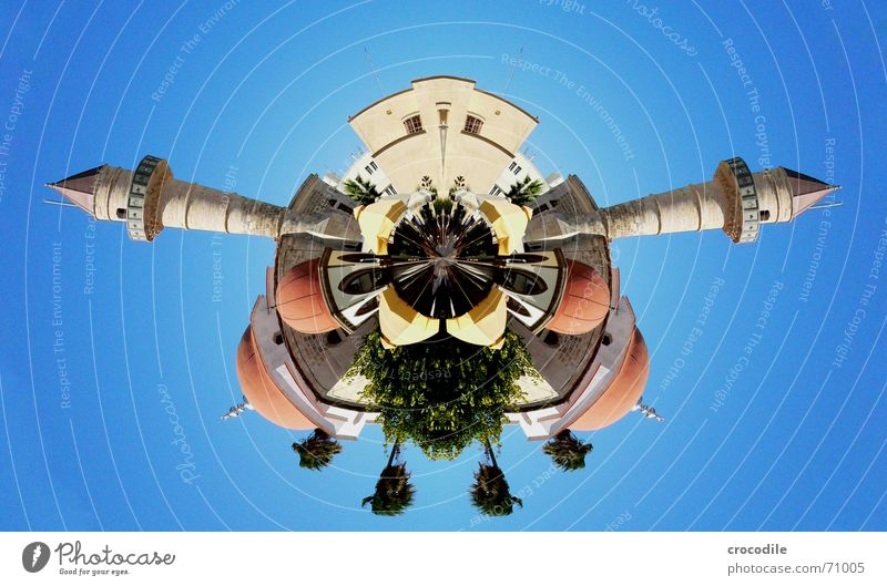 moschee Mensch Himmel Baum blau Mauer Dach Turm Insekt Regenschirm Spitze Café Palme Doppelbelichtung Kuppeldach Bildbearbeitung