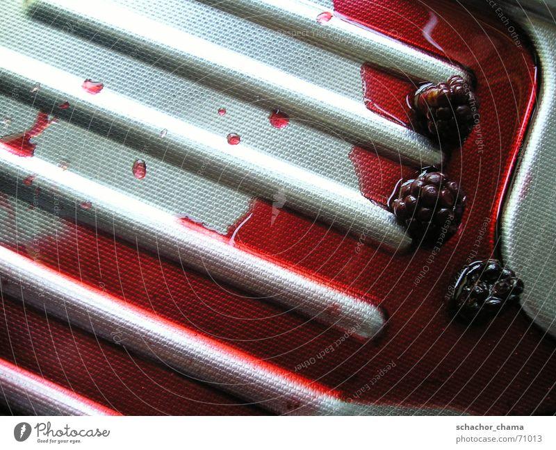Brombeeren im eigenen Saft Sommer rot schwarz Lebensmittel dreckig Ernährung süß Reinigen Küche Ernte lecker Beeren Dessert fruchtig Küchenspüle