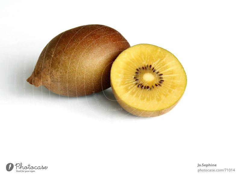 Zespri II Sommer gelb Gesundheit braun Frucht Lebensmittel frisch Ernährung rund Wellness Teile u. Stücke Teilung Erfrischung Diät Kerne Freisteller