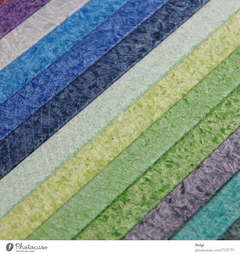 AST7 | diagonal... Wachs Streifen liegen ästhetisch außergewöhnlich einfach schön einzigartig lang blau grau grün violett türkis Ordnungsliebe bizarr Design