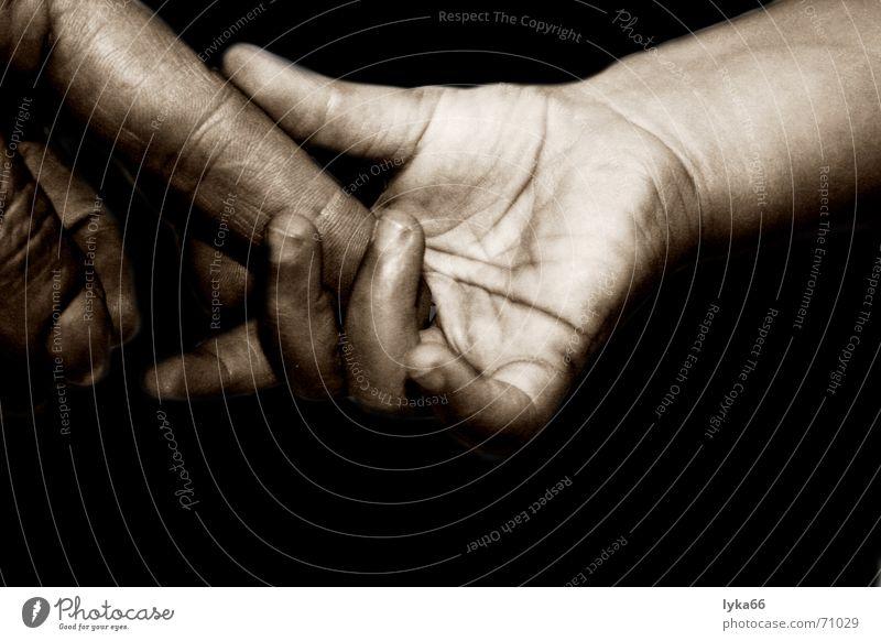 vertrauen Hand Kind festhalten Vertrauen Zuneigung Finger Liebe