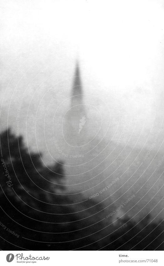 Die Spitze des Eisbergs Einsamkeit grau träumen Religion & Glaube Nebel November