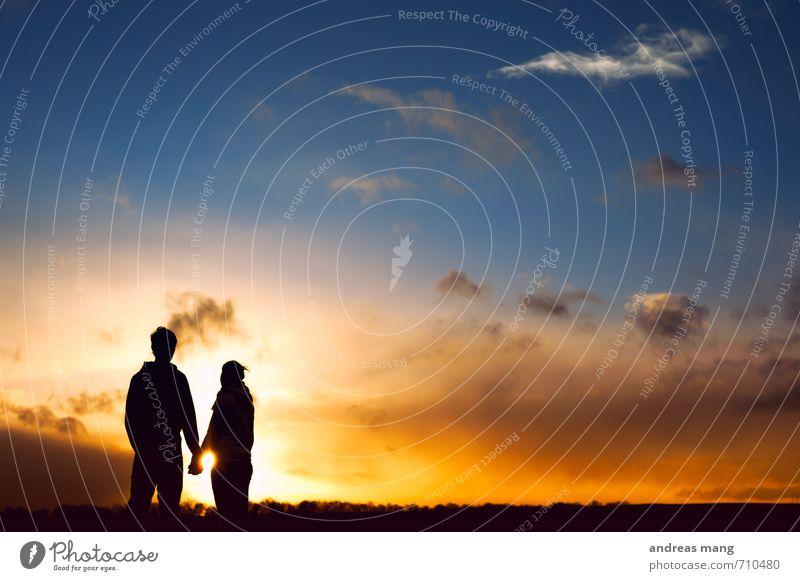 Was die Zukunft so bringt... Mensch Jugendliche 18-30 Jahre Erwachsene Liebe Glück träumen Paar Freundschaft Zusammensein Zufriedenheit frei stehen genießen