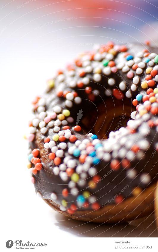 mini donut Krapfen Backwaren süß Schokolade lecker Dessert mehrfarbig rund Ernährung Lebensmittel Kalorie Zucker klein sweet chocolate Liebesperle genießen