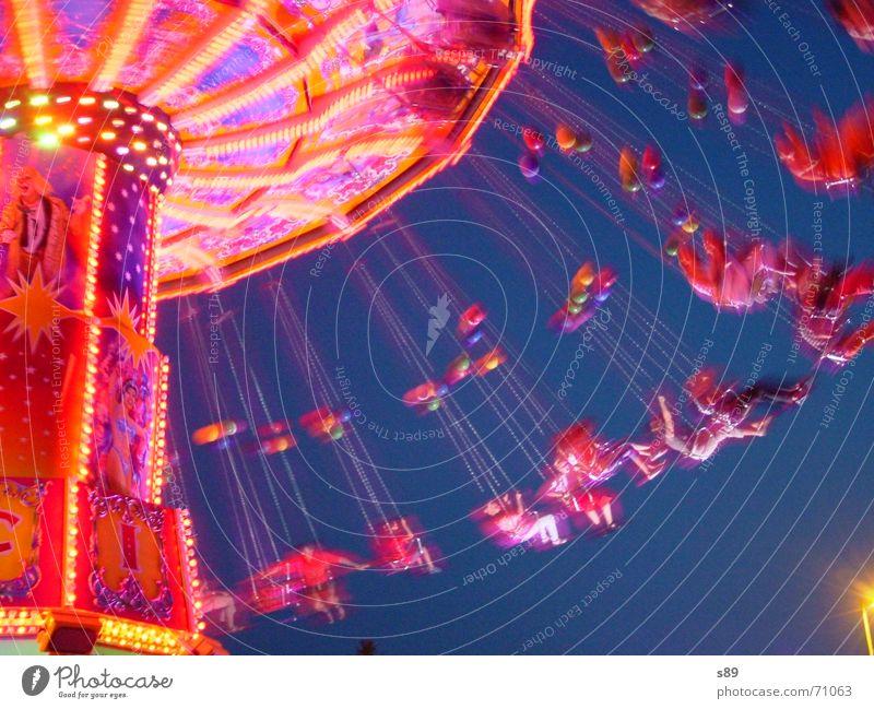 Ketten-Karussel Jahrmarkt Vergnügungspark Lichtspiel karussel ketten karussel libori Abend Feste & Feiern karusell karrussell karrusel
