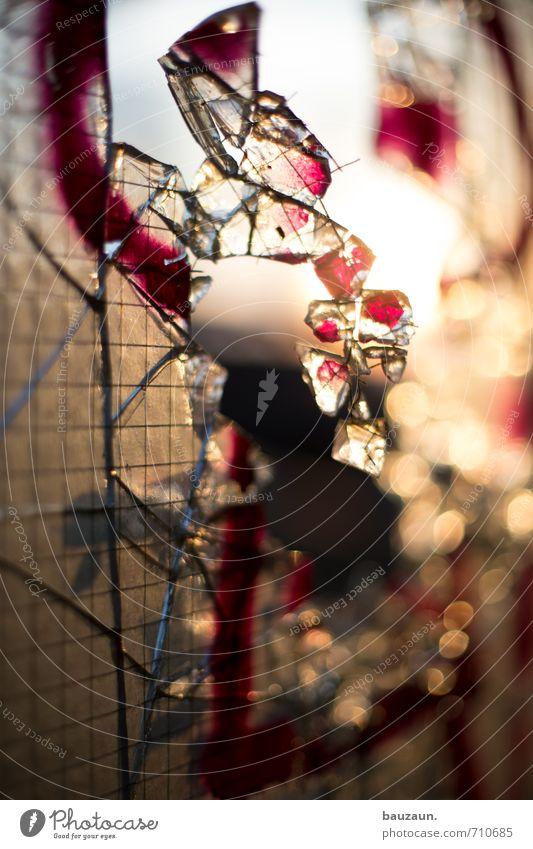 ut köln | gebrochen. Handwerker Baustelle Schönes Wetter Industrieanlage Fabrik Ruine Fenster Scherbe Glas Graffiti glänzend kaputt bizarr Farbfoto