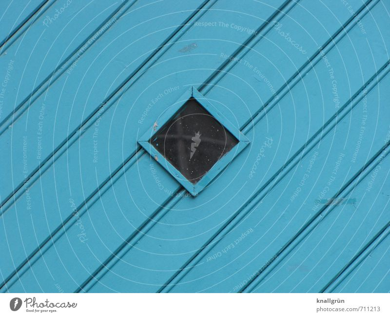 schöne Farbe! blau Fenster Holz Tür Glas Schutz türkis eckig