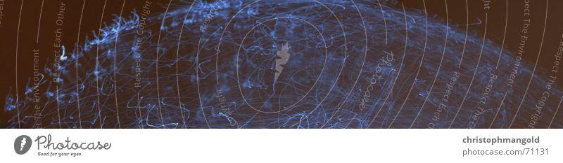 fibre_world blau schwarz Digitalfotografie Leuchtdiode geschmackvoll Glasfaser