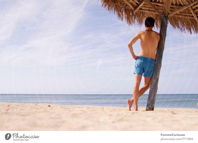 Beach Time! (IV) Mensch Natur Jugendliche Ferien & Urlaub & Reisen Mann blau Sommer Erholung 18-30 Jahre Junger Mann Erwachsene Reisefotografie