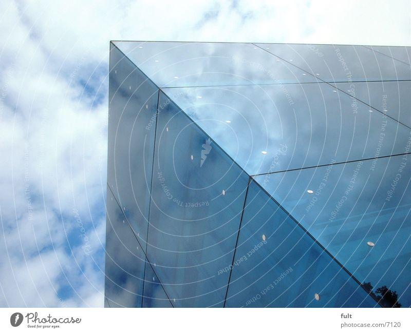 spiegelfassade Himmel blau Gebäude Architektur Glas Spiegel