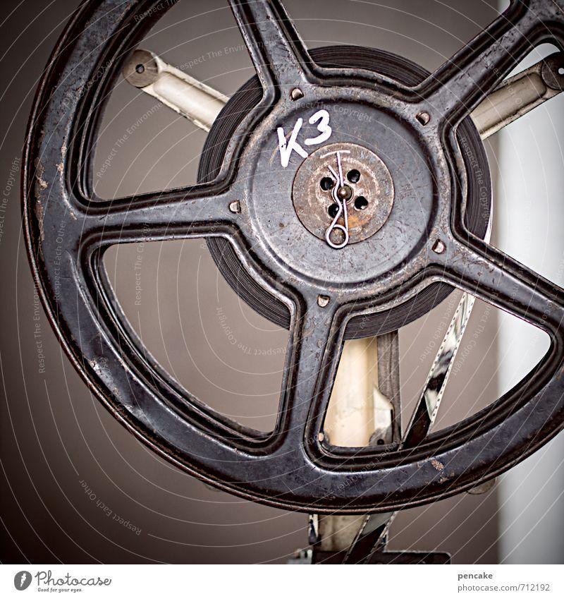 auf den spulen dieser welt träumen modern Vergänglichkeit retro rund Zeichen Filmmaterial Medien Filmindustrie Kino Video Hardware Unterhaltungselektronik Spule