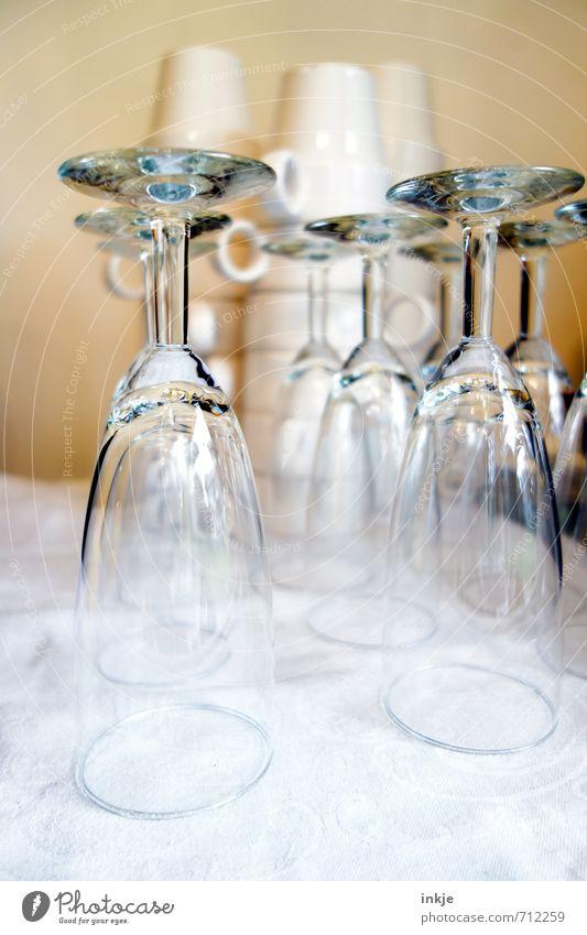 *Prosecco köpf* Gefühle glänzend Glas Ernährung Sauberkeit Gastronomie Dienstleistungsgewerbe Geschirr Restaurant Tasse Vorfreude Stapel festlich Reinlichkeit