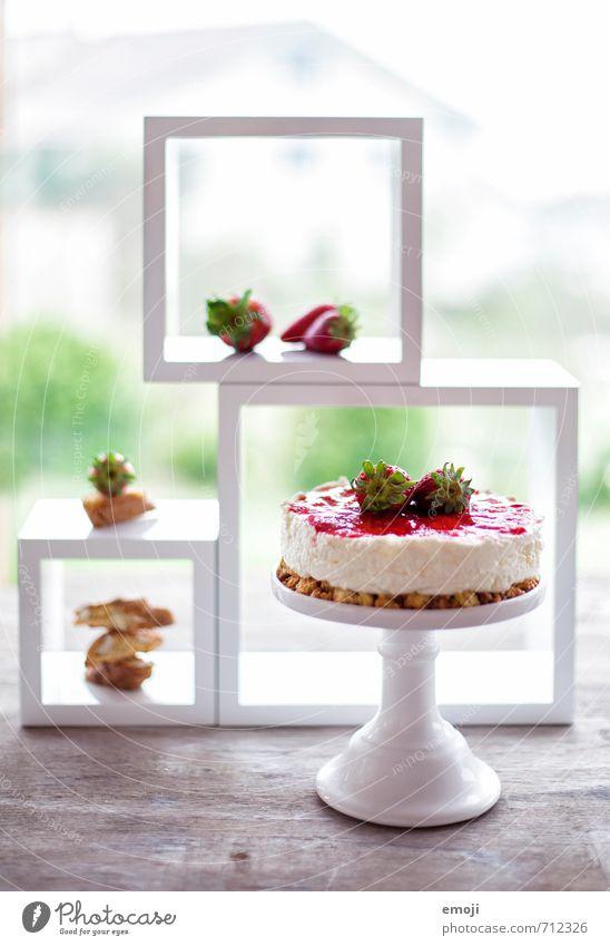 no bake cake Joghurt Milcherzeugnisse Frucht Dessert Süßwaren Ernährung lecker süß Torte Farbfoto mehrfarbig Innenaufnahme Menschenleer Tag