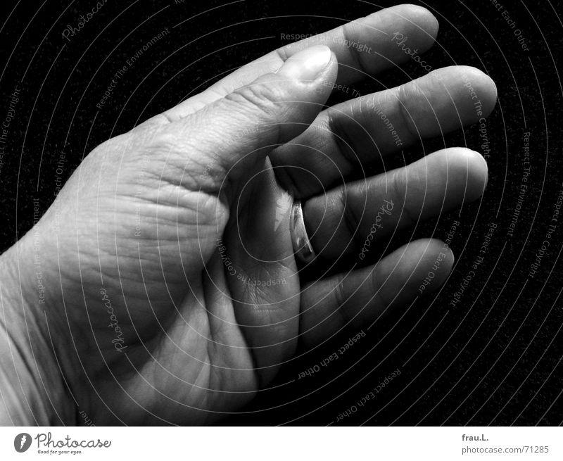 Handfläche Frau Finger alt Geschirrspülen Reinigen Arbeit & Erwerbstätigkeit Kreis Falte Haut Haushaltsführung