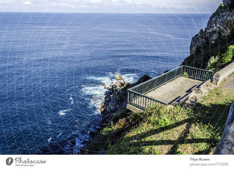 Wunderschöne Meereslandschaft Sonne Insel Wellen Umwelt Natur Landschaft Himmel Wolken Felsen Stein natürlich blau Boden Wasser fließen winken platschen