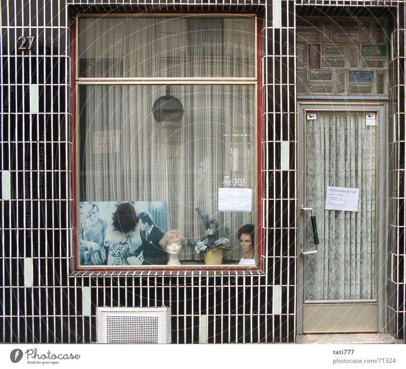 Frisör Fassade Köln Friseur Siebziger Jahre Schaufenster Handwerker Perücke Zierpflanze Köln-Ehrenfeld