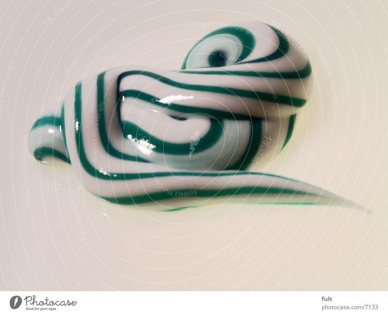 pasta Zahncreme Streifen Stil grün weiß Dinge Makroaufnahme