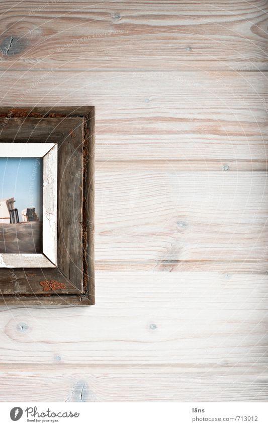 Strandbild rechts Wand Täfelung Bild Bilderrahmen alt Foto Dekoration