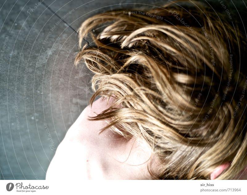 Heiß serviert blond Sinnesorgane Nacken Marmorsockel Haut Ohr nackt Gedeckte Farben