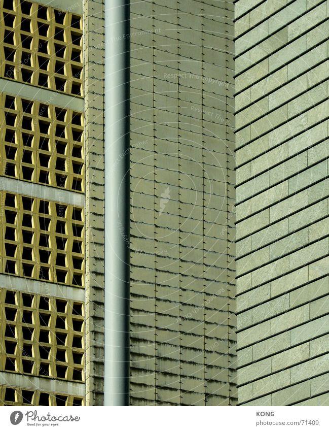 gemustert Stadt Wand grau Mauer Beton Fassade Dresden beige Hongkong
