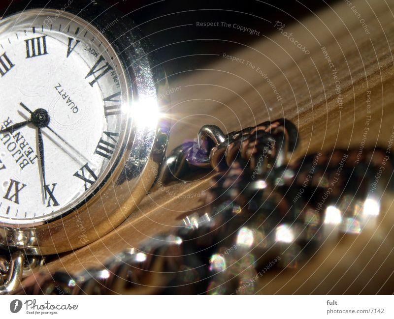 taschenuhr Holz Uhr Ziffern & Zahlen Kette Chrom Uhrenzeiger Höhepunkt Römische Zahlen