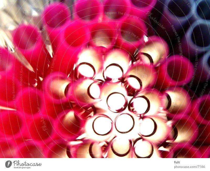 kunststoff rosa Makroaufnahme Licht schwarz Dinge Halm Kunststoff Statue