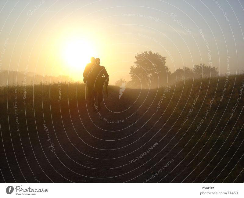 Morgenstund... Sonnenaufgang Nebel Soldat hell Bundeswehr