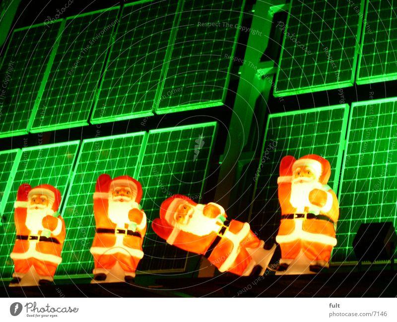 Nikolaus Weihnachten & Advent grün Lampe Weihnachtsmann
