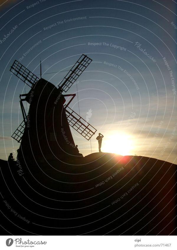 Don Quichote II Himmel Sonne Abschied Schweden Abenddämmerung Niederlande Mühle Windmühle