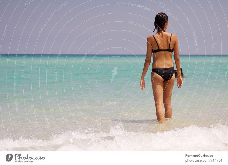 Beach Time! (XI) feminin Junge Frau Jugendliche Erwachsene 1 Mensch 13-18 Jahre Kind 18-30 Jahre Zufriedenheit Erholung erleben Traumreise Karibik Kuba Pause