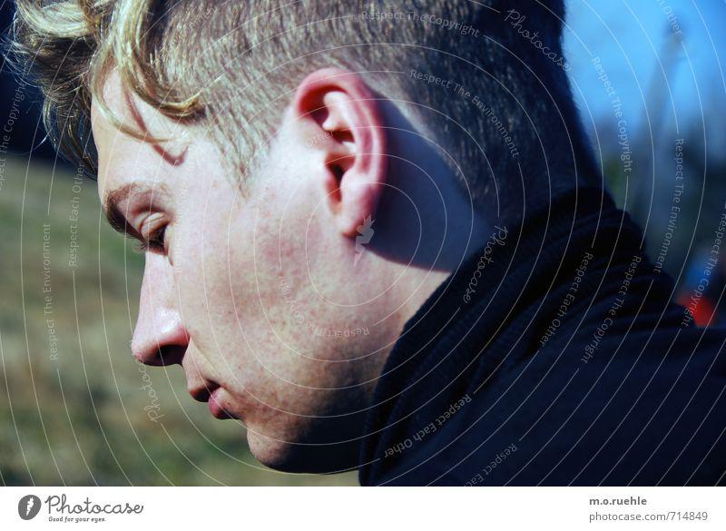 modus Mensch Jugendliche 18-30 Jahre Junger Mann Gesicht Erwachsene Auge Haare & Frisuren Kopf Mode träumen maskulin Lifestyle Haut Mund Nase