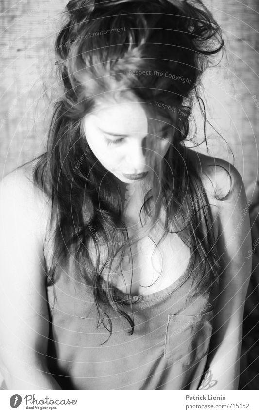 nothing else matters Mensch Frau Jugendliche schön Junge Frau Erholung ruhig 18-30 Jahre Erwachsene feminin Stil Haare & Frisuren Gesundheit Mode Lifestyle
