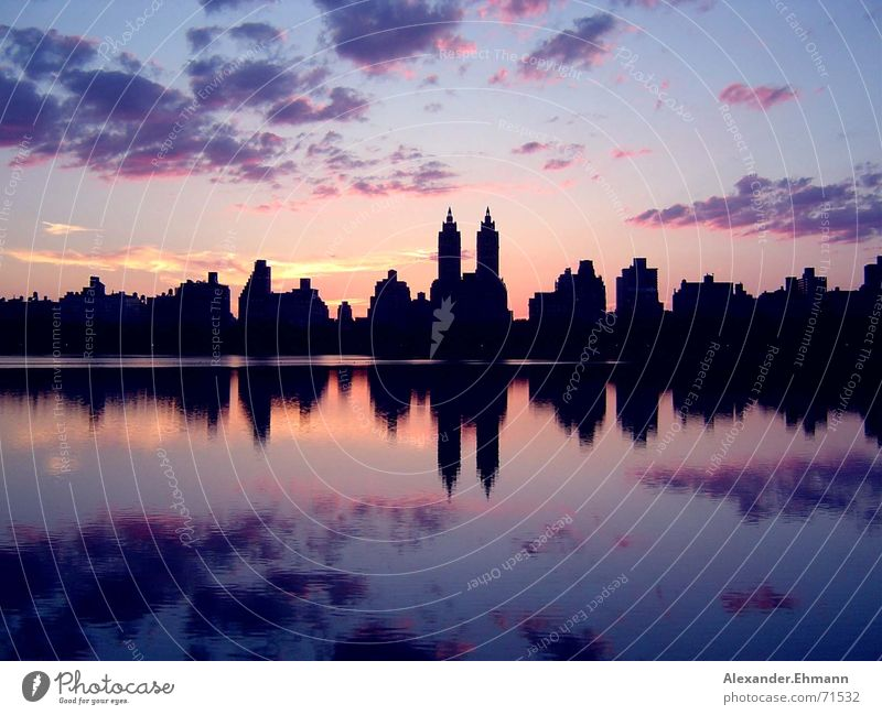Central Park Sonnenuntergang Himmel Horizont Skyline New York City