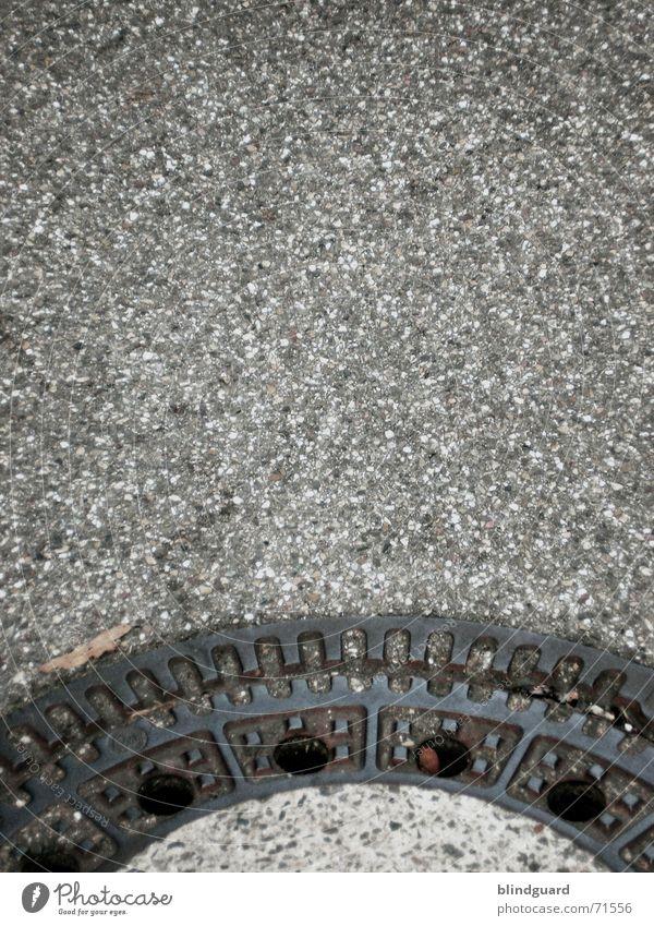 Mein Finalisieren-Ordner Straße Metall Verkehr Müll trashig Handwerk Verkehrswege Straßenbelag Gully Frustration Teer Abwasserkanal Unlust Schädlinge