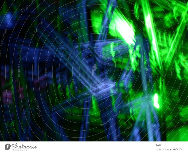 stahlgerüst grün Nachtaufnahme mehrfarbig Stil Landschaftspark Duisburg-Nord Industrie Stahlträger blau