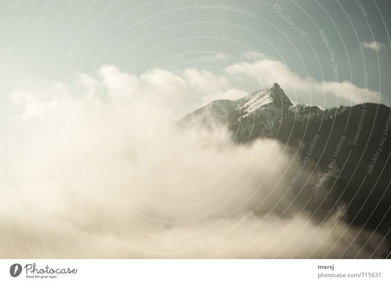 Zinken Abenteuer Berge u. Gebirge wandern Klettern Bergsteigen Natur Landschaft Himmel Wolken Horizont Frühling Herbst Winter Klima Wetter Schönes Wetter Nebel