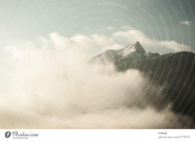 Zinken Himmel Natur Landschaft Wolken Winter kalt Berge u. Gebirge Herbst Frühling Freiheit außergewöhnlich Felsen Horizont Wetter Nebel Klima