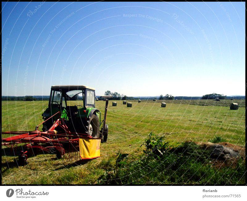 Fields schön Himmel Sonne Sommer Arbeit & Erwerbstätigkeit Feld Wetter Schönes Wetter Traktor