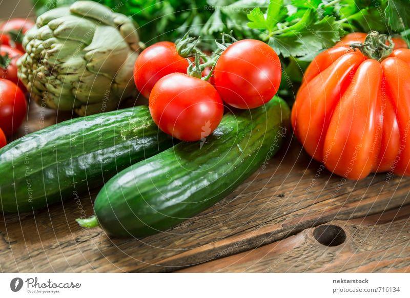 Frisches Gemüse vom Markt Hintergrundbild Gesundheit Lifestyle Lebensmittel frisch Ernährung kaufen Bioprodukte Vegetarische Ernährung Diät Salat Salatbeilage
