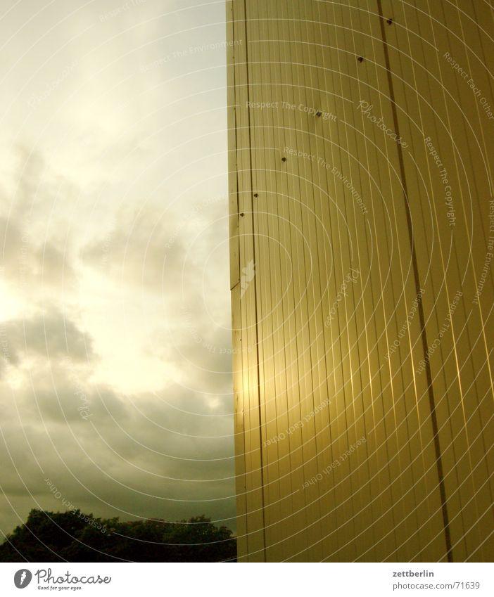 Sonnenuntergang Abendsonne Feierabend Wolken Silhouette Aluminium genietet Baum Baumkrone Empfehlung nehmen oben Norden Profil gebürstet eloxiert Niete weitere