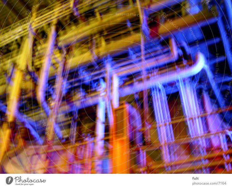 rohre Stil Industrie Röhren Duisburg Nachtaufnahme Ruhrgebiet Landschaftspark Duisburg-Nord