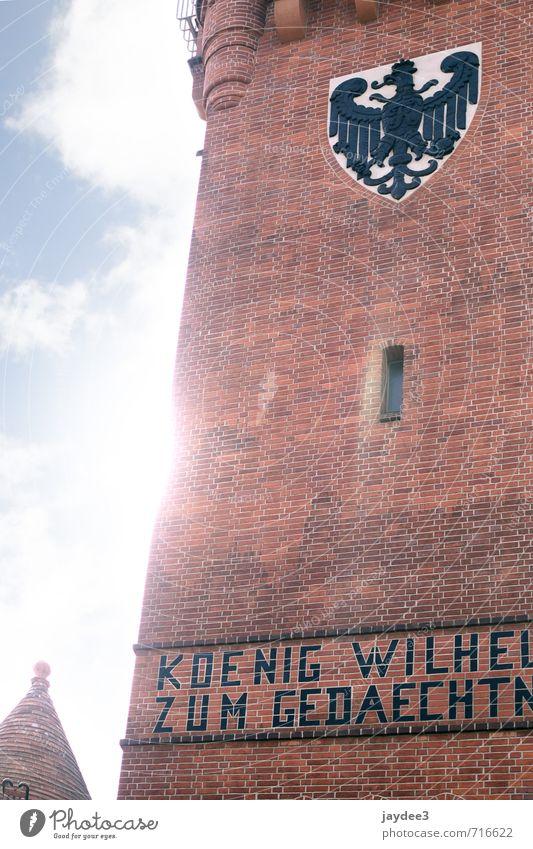 Sonniger Grunewaldturm Architektur Turm Bauwerk Gebäude Mauer Wand Sehenswürdigkeit Wahrzeichen Denkmal alt authentisch Glück hell historisch rot Wappen
