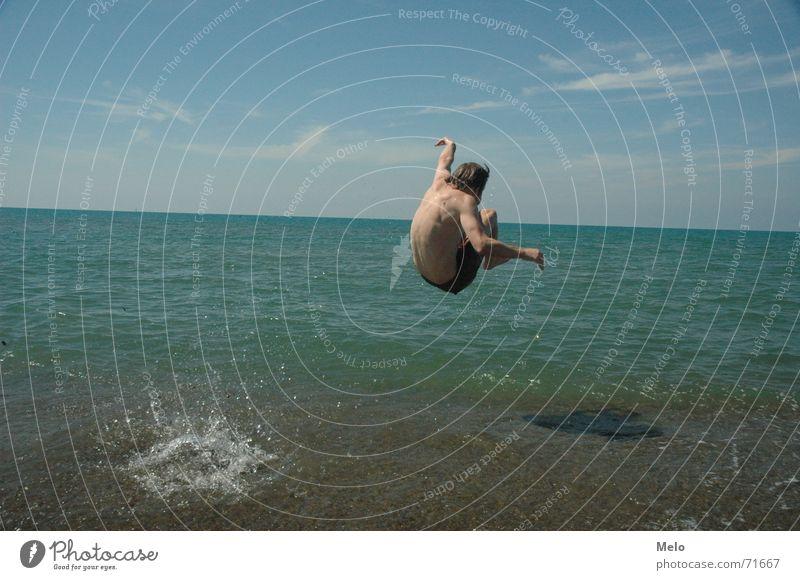 PINI-JUMP! Wasser Meer springen Italien