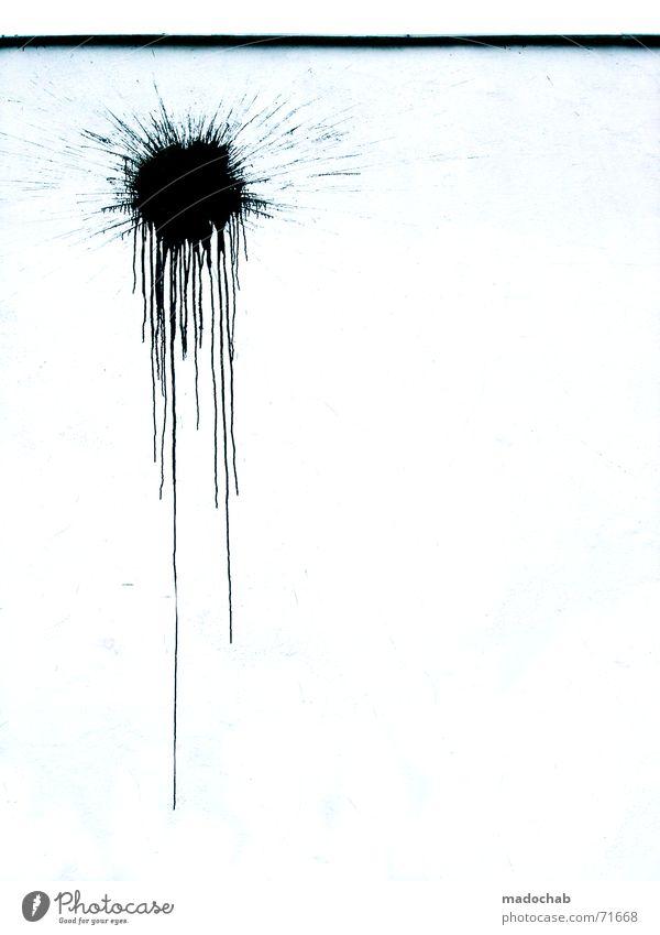 GOT CHA | farbkleks grafitti fleck trash Schandfleck Farbfleck trashig Graffiti Freestyle Freisteller Vor hellem Hintergrund Textfreiraum rechts schwarz weiß 1