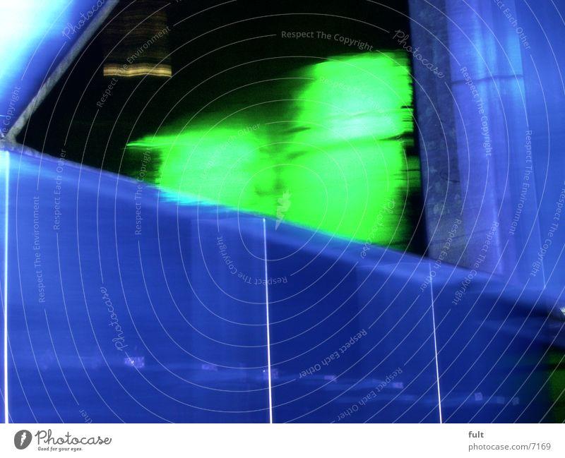 stahl grün blau Industrie Stahl Nachtaufnahme Landschaftspark Duisburg-Nord